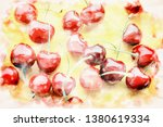 closeup of red delicious... | Shutterstock . vector #1380619334