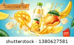 realistic mango and banana... | Shutterstock .eps vector #1380627581