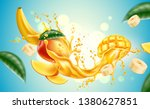 realistic mango and banana... | Shutterstock .eps vector #1380627851