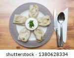 turkish traditional manti food. ... | Shutterstock . vector #1380628334