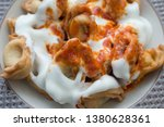 turkish traditional manti food. ... | Shutterstock . vector #1380628361