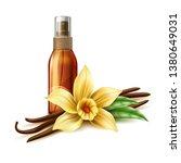 realistic tanning oil in bronze ... | Shutterstock .eps vector #1380649031