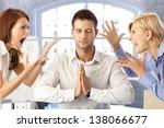 meditating closed eye... | Shutterstock . vector #138066677