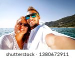 summer time and two young... | Shutterstock . vector #1380672911