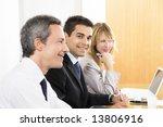 portrait of business man among... | Shutterstock . vector #13806916