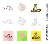 vector design of mammal and... | Shutterstock .eps vector #1380702101