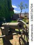 Small photo of Old Army Cannon. This Army Cannon is a type used in World War 1.