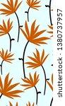 orange flower seamless pattern... | Shutterstock .eps vector #1380737957