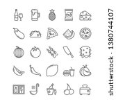 food line vector icons | Shutterstock .eps vector #1380744107