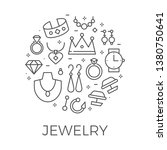 jewerly outline background.... | Shutterstock .eps vector #1380750641