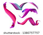 3d colorful paint watercolor or ... | Shutterstock .eps vector #1380757757