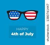 american sunglasses. usa flag.... | Shutterstock .eps vector #1380761447