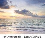 sunset and beach beautiful... | Shutterstock . vector #1380765491