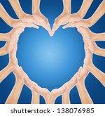 hands make heart shape   Shutterstock . vector #138076985