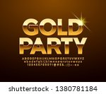 vector chic poster gold party ... | Shutterstock .eps vector #1380781184
