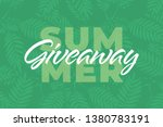 nature giveaway vector... | Shutterstock .eps vector #1380783191