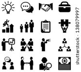 business icons   set of... | Shutterstock .eps vector #138079997