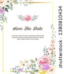 colourful floral invitation...   Shutterstock .eps vector #1380810434