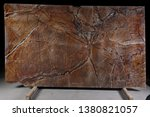 natural stone brown marble with ...   Shutterstock . vector #1380821057