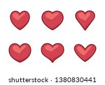 collection of heart... | Shutterstock .eps vector #1380830441