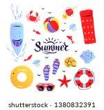 vector summertime top view...   Shutterstock .eps vector #1380832391
