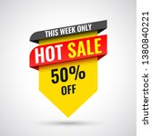 this week only hot sale banner  ... | Shutterstock .eps vector #1380840221