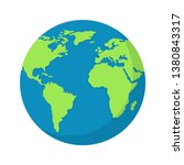 earth globe isolated on white... | Shutterstock .eps vector #1380843317