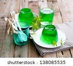 gelatin dessert with woodruff | Shutterstock . vector #138085535