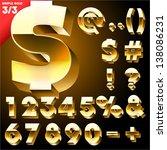 vector alphabet of simple 3d... | Shutterstock .eps vector #138086231