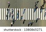 Aerial. Pedestrian Crosswalk...