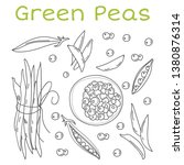 pea pods and pods vector... | Shutterstock .eps vector #1380876314