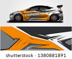 wrap livery decal car vector  ... | Shutterstock .eps vector #1380881891