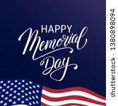 happy memorial day background... | Shutterstock .eps vector #1380898094