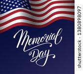 memorial day background with...   Shutterstock .eps vector #1380898097