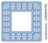 border frame ceramic tile... | Shutterstock .eps vector #1380898781
