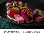 meat with beetroots in bbq... | Shutterstock . vector #1380903431
