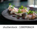 traditional crispy dumplings... | Shutterstock . vector #1380908624