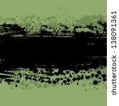 ink blots abstract background.... | Shutterstock .eps vector #138091361