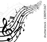 white background with music... | Shutterstock .eps vector #138091367
