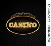 brightly casino glowing vintage ... | Shutterstock .eps vector #1380954401
