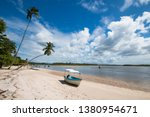 tropical island with coconut...   Shutterstock . vector #1380954671