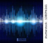 shining blue digital equalizer... | Shutterstock .eps vector #138096161