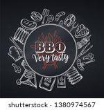 barbecue round banner. vector... | Shutterstock .eps vector #1380974567