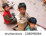 Small photo of MADHYA PRADESH, INDIA - DEC 30: Unidentified poor children play on the street on December 30, 2012 in Chitrakoot India. Madhya Pradesh is the 2nd largest Indian state, with 105,592 primary schools