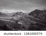 the black and white image of... | Shutterstock . vector #1381000574