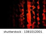 dark red vector polygon... | Shutterstock .eps vector #1381012001