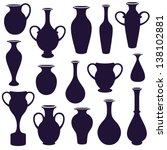 Vector  Set Of  Vases...
