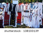 romanian traditional costumes... | Shutterstock . vector #138103139