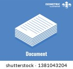 document icon. pile of... | Shutterstock .eps vector #1381043204