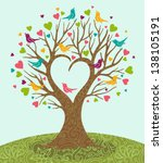 Vector Illustration Of Tree And ...